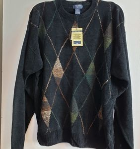 Dockers black tweed Textured Chenille sweater